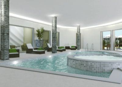 Our luxury facilities include a pool and hot tub