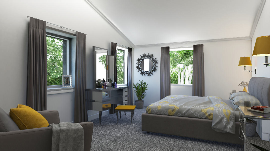 Typical lodge bedroom